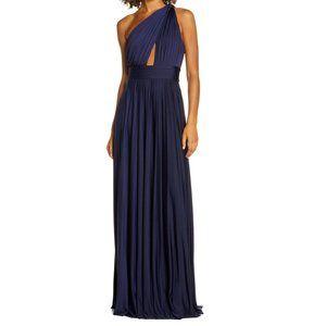JILL Jill Stuart NWT One Shoulder Pleat Gown Dress